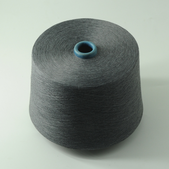 China 100% Black Polyester Ring Spun Yarn 30/1,100% Black Polyester